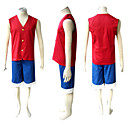 Disfraces Cosplay - One Piece - de Monkey D. Luffy - Chaleco / Pantalones Cortos -