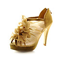 Lace Upper Stiletto Heel/ Platform With Ruffles Wedding Shoes More Colors Available