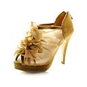 blonder øvre stiletto hæl / plattform med volanger bryllup sko flere farger