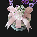 klar top for tin med pink sløjfe (sæt med 6)