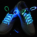 Flash Grow Stick Cyan Light Waterproof LED Shoelace (1-Pair)