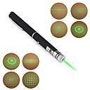 Pennformet 5mW 532nm grønn laserpeker med 5 mønster/spesialeffekt (2 x AAA)