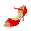 satin øverste latinske Ballroom Dance sko til kvinder flere farver