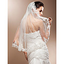 Wedding Veil One-tier Elbow Veils Lace Applique Edge 31.5 in (80cm) Tulle / Lace White