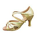 Customize Performance Dance Shoes Leatherette/ Paillette Upper Latin Shoes for Women