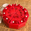 torta de flor roja a favor caja con perla (juego de 10)
