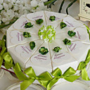 touche de boîte de gâteau faveur vert (jeu de 10)
