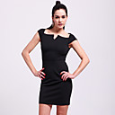TS Geometric Neckline Bodycon Dress