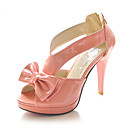 Patent Leather Stiletto Heel Sandals / Peep Toe With Bowknot Party Evening Shoes (More Colors Available)