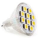 GU4(MR11) 10 SMD 5050 120 LM Warm White MR11 LED Spotlight DC 12 V