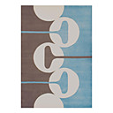 Acrylic Hooked Area Rug with  Stripe Pattern 5'*8'