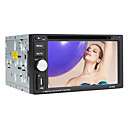 Lettore digitale touchscreen 2din dvd da 6.2 pollici con tv, rds