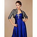 Elegant 3/4-Length Sleeve Sequined Special Occasion Evening Jacket / Wrap Bolero Shrug