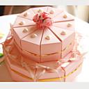 розовая карточка бумаги свадьбы пользу коробки с лентами и сердца (набор из 20)