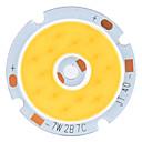 DIY 7W 560-630LM 2800-3200K Warm White Light COB LED Emitter with Hole (21-24V)