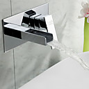 Sprinkle® Sink Faucets Waterfall / Widespread with Chrome Single Handle Two Holes