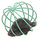 PethingTM Ball Shape Cage with Little Mouse Toys for Cat (Random Color)