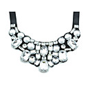 Gorgeous Black Satin With Rhinestone Women's Necklace
