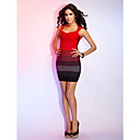 Sheath/Column Queen Anne Sleeveless Short/Mini Bandage Dress