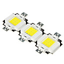 DIY 10W 800-900LM 6000-6500K Natural White Light Square Integrated LED Module (9-11V, 3-Pack)