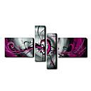 handbemalte abstrakte Ölgemälde mit gestreckten Rahmen Set von 4 1211-ab0063