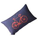 land cykel bomull / linne dekorativa örngott