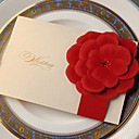 Beautiful Wedding Invitation With Embossed Flower-Set of 50/20