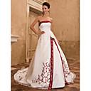 FENNGUNDE - Bröllopsklänning av Organza och Satäng