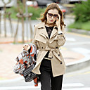 Women's Trench Coat , Cute Polyester