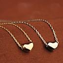Women's Vintage Rhinestone Opal Heart Pendant Necklace