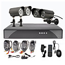 4 Outdoor Giorno Notte CCTV Home Video Surveillance Kit di sicurezza Camera