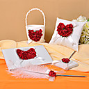 Wedding Collection Set in Satin With Rose Petals (4 Pieces)
