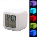 coloré brillant cube thermomètre civile réveil numérique (blanc, 4xAAA)