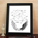 Personalized Signature Canvas Frame - Wings Of Love (Includes Frame)
