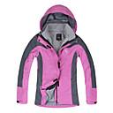 LANGZUYOUDANG Women's Outdoor Warm Jacket Ultraviolet Resistant Detachable Cap Windproof Waterproof