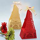 dejlige Eiffeltårnet formet favor bokse boks højde 3.5cm - sæt af 12 (flere farver)