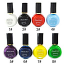 1PCS multi-couleur Top Coat Vernis à ongles pour estampage (10ml, couleurs assorties)