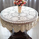 51 Inch Crochet Round  Tablecloth