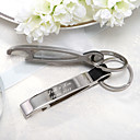 Personalized Zinc Alloy Bottle Opener/Key Ring (Set of 4 Pieces)