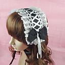 Handmade Black Cotton White 34cm Maid Cosplay Lolita Headband