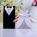 Boîtes Déco de Mariage Style Smoking & Robe (12 Pièces)