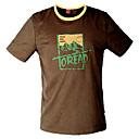 Menn Fasjonable brevmønster Round Krage T-skjorter (Brown)