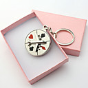 Personalized Engraved Gift Plane Compass Poker Style Keychains(Set of 6)