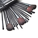 18pcs Professional Cosmetic Brush med gratis Lædertaske