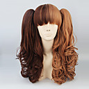 Chocolate Girl Brown and Coffee Mixed Color 68cm Sweet Lolita Wig