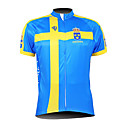 Kooplus Men's Cycling Jersey 2015 Short Sleeves Sweden Pattern 100% Polyester Breathable