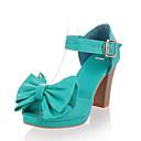 Zapatos de mujer - Tacón Robusto - Punta Abierta - Sandalias / Tacones - Vestido - Semicuero - Negro / Marfil