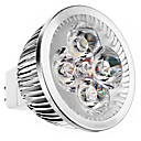 GU5.3(MR16) 5W 4 High Power LED 240 LM Warm White MR16 LED Spotlight DC 12 V