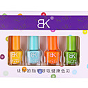 4PCS Pure Color Fast-Drying Nail Polish Suits For Sweet Candy Style (8ml)