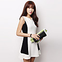 Women's Casual Color Block A Line Dress , V Neck Mini Polyester / Spandex